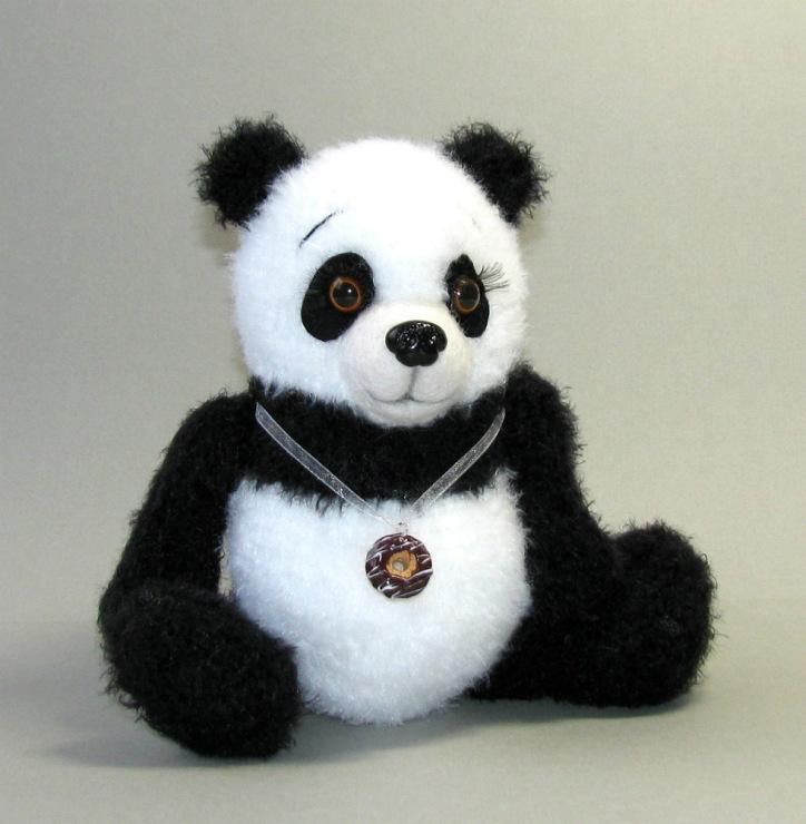 Вязание игрушки панды крючком 93