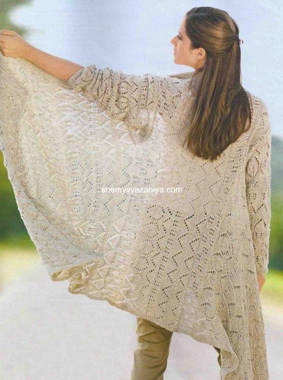 Ажурное вязание Вязание спицами и вязание крючком со схемой. Ажурные кофточки и кардиганы - Вязание крючком и