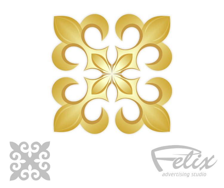 Набор векторных элементов казахского орнамента. С давних времён орнамент был основной темой
