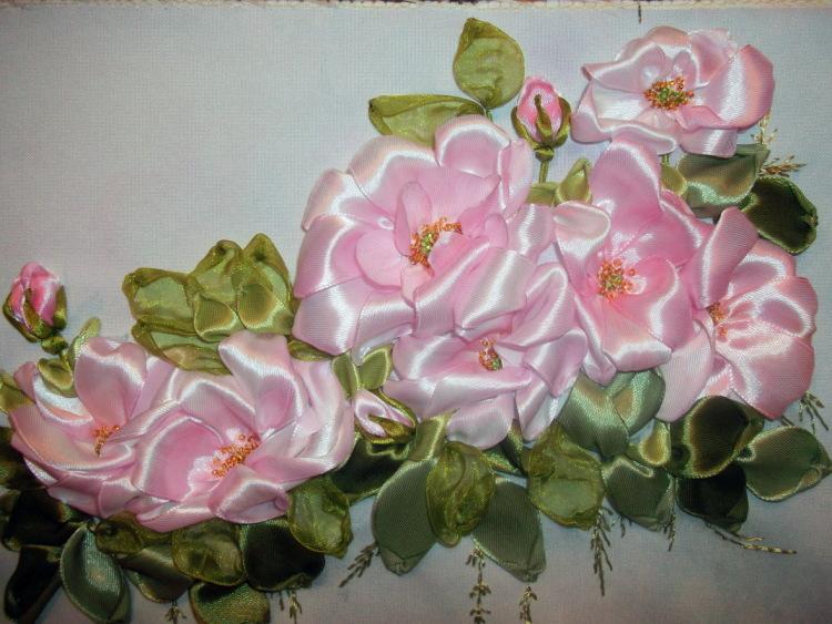 Вышивки лентой Валентины Кулик