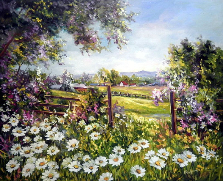Летние пейзажи художницы Anca