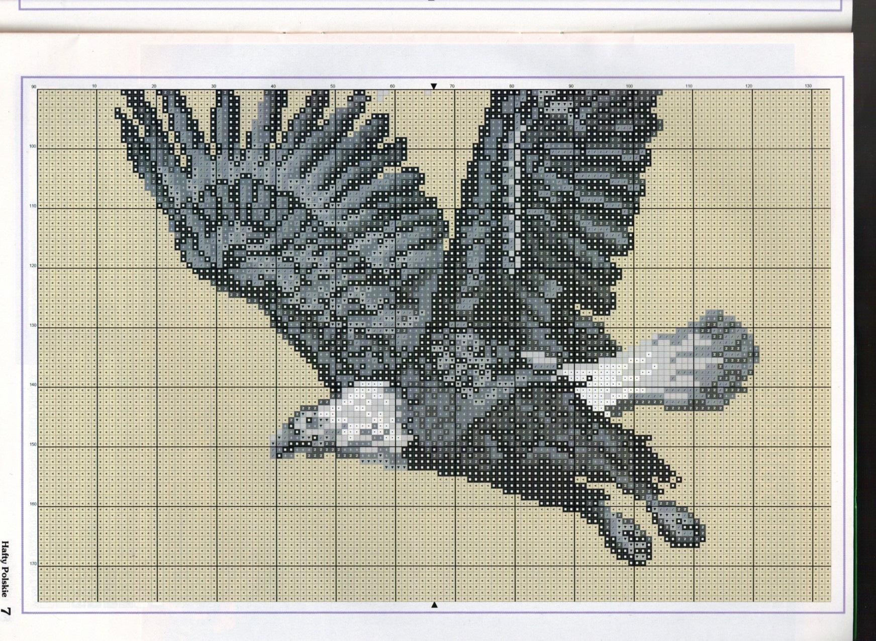 Схема вышивки крестом орел