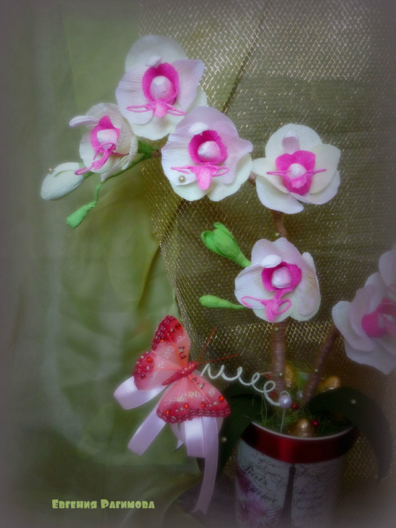 Орхидея из бумаги своими руками фото