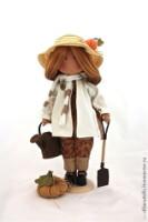 """Человечки ручной работы.  Ярмарка Мастеров - ручная работа текстильная кукла `HELEN """" резерв.  Handmade."""