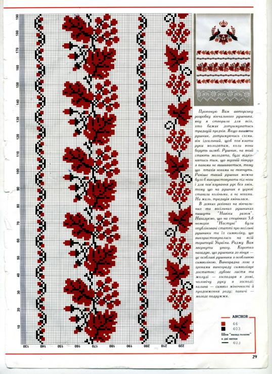 Вышивка для свадебного рушника схемы 73