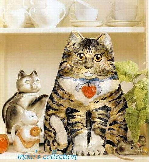 Котик - грелка на чайник.